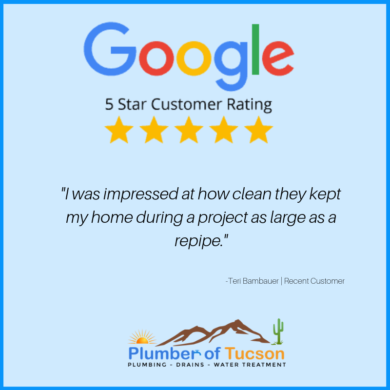 Plumber of tucson reviews on Google