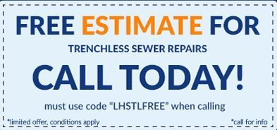 trenchless sewer repair coupon