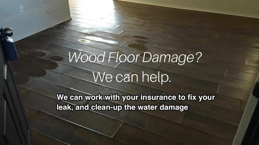 Wood floor water damage restoration Tucson AZ