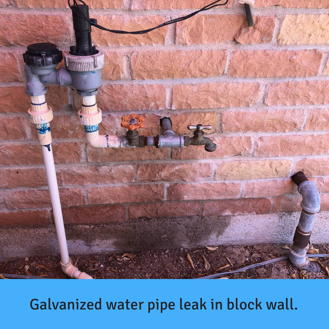 Galvanized Water Pipe Repair