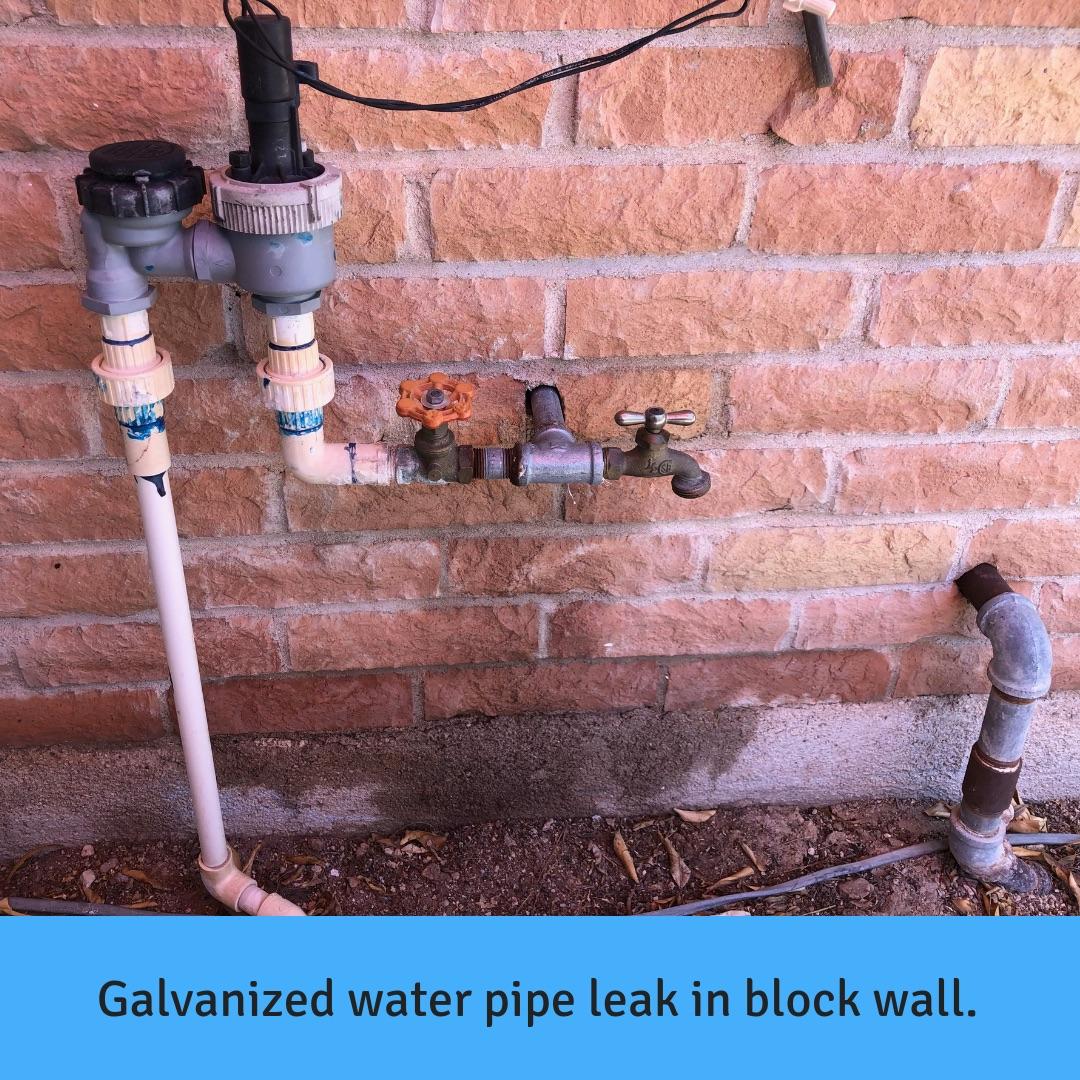 Galvanized Water Pipe Repair