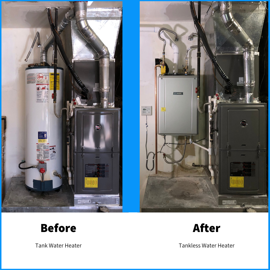 Cost for a tankless water heater tucson