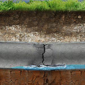 cracked & damaged drain
