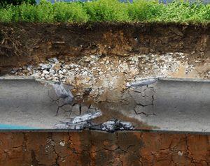 damaged drain