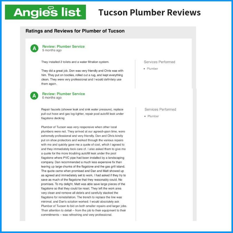 Angies List Plumbers Tucson