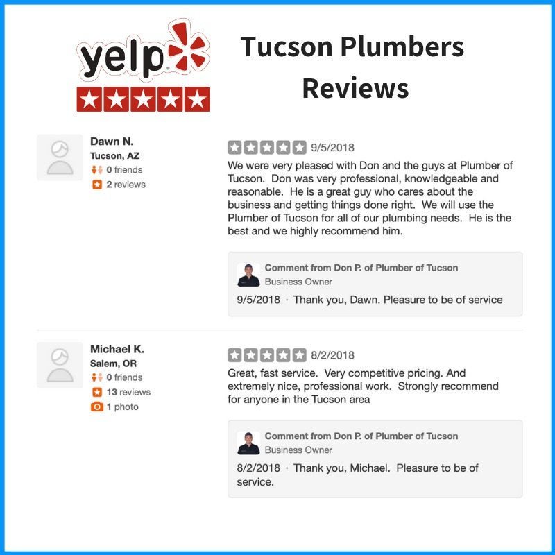 Yelp Tucson Plumbers Reviews