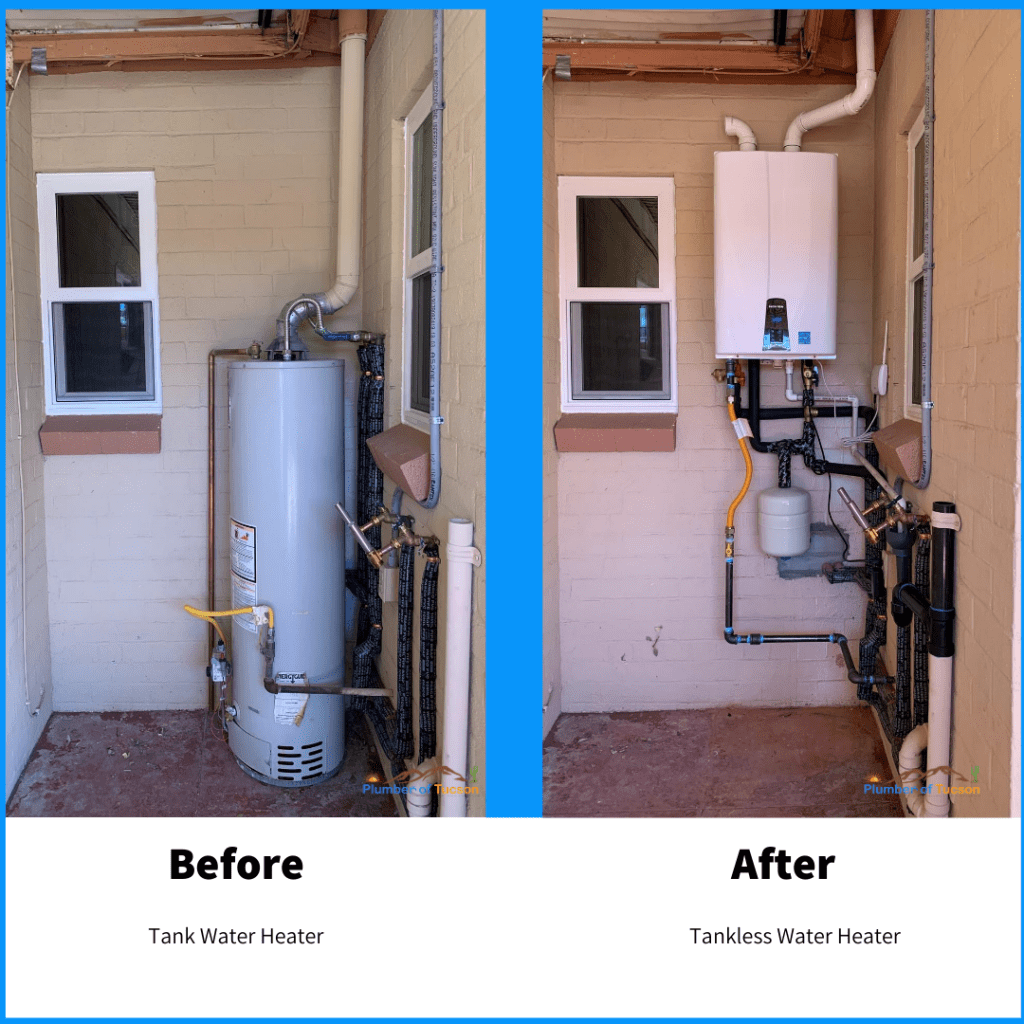 Tankless water heater Oro Valley AZ
