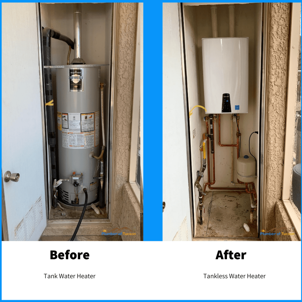 Tankless water heater replacement in Tucson