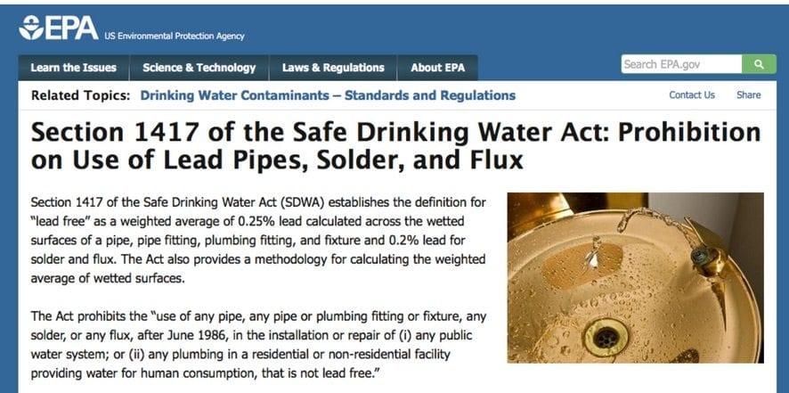 EPA Safe Drinking Water Act